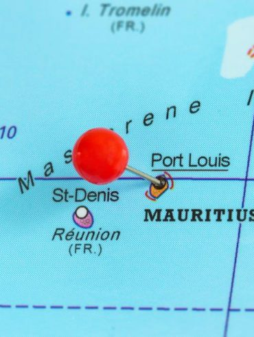 Pin on a map of Port Louis