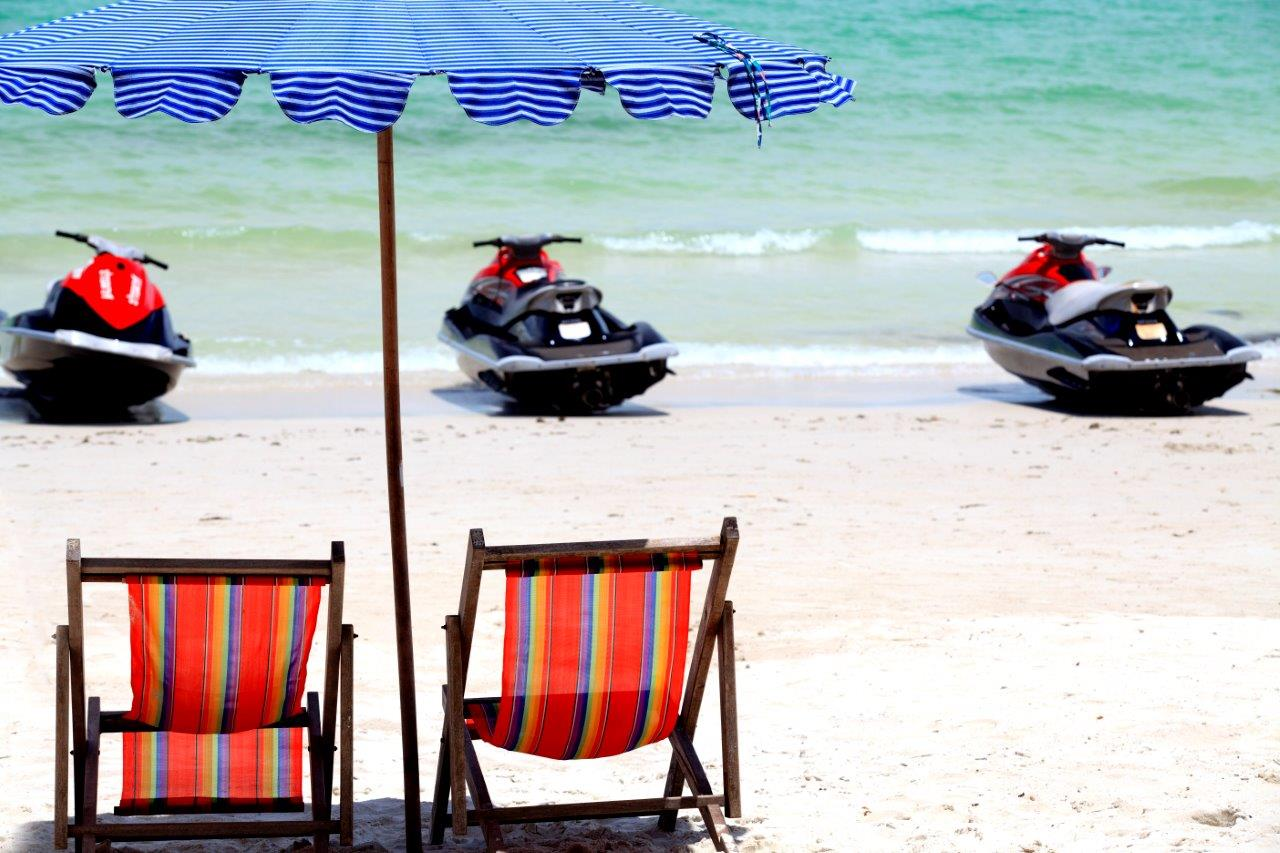 Jet ski rentals available on beach