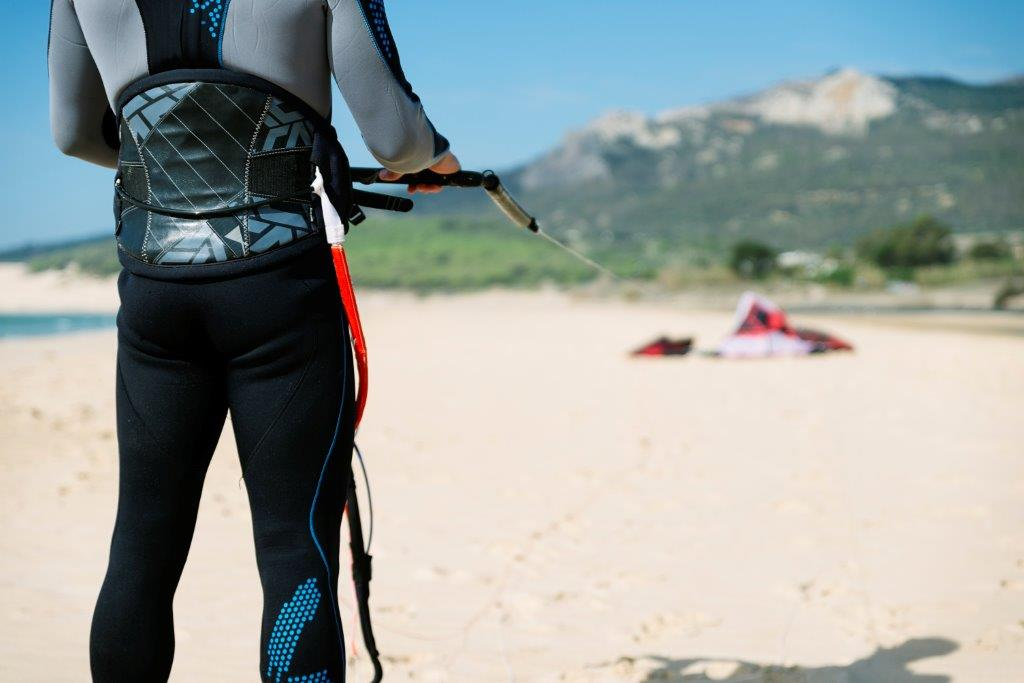 Kiteboarding or kitesurfing equipment