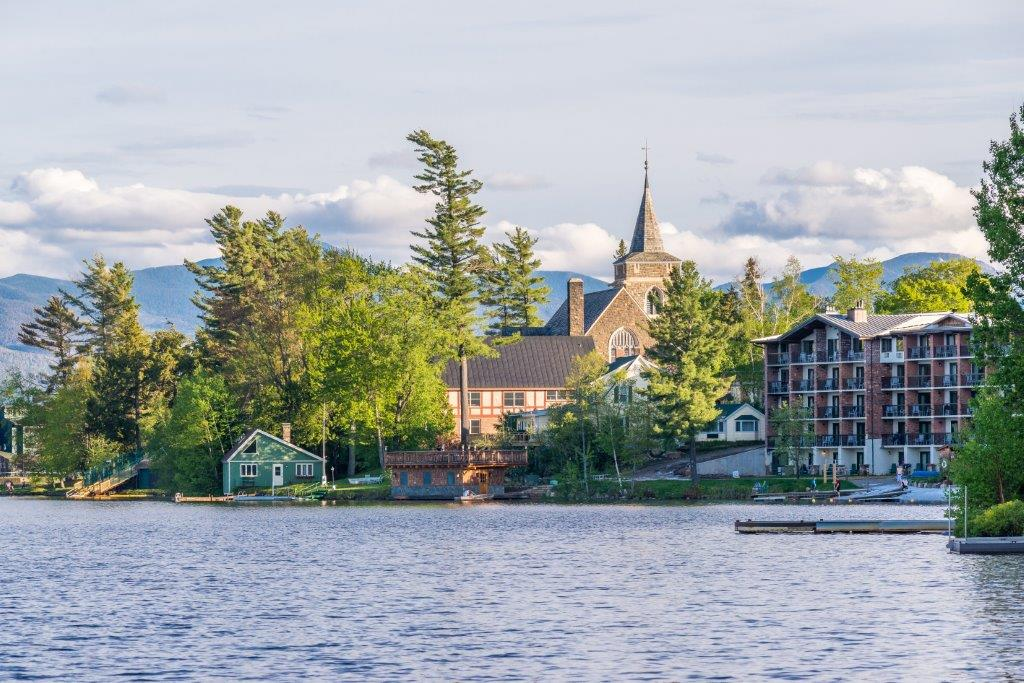 Mirror Lake of Lake Placid village
