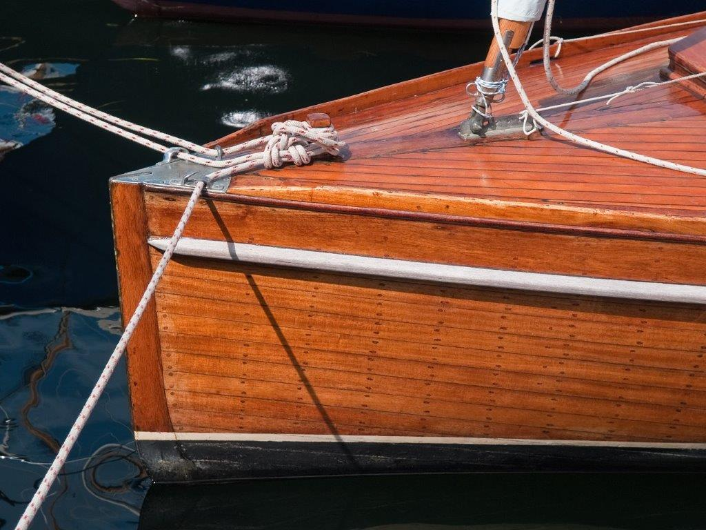 beautiful antique mahogany boat